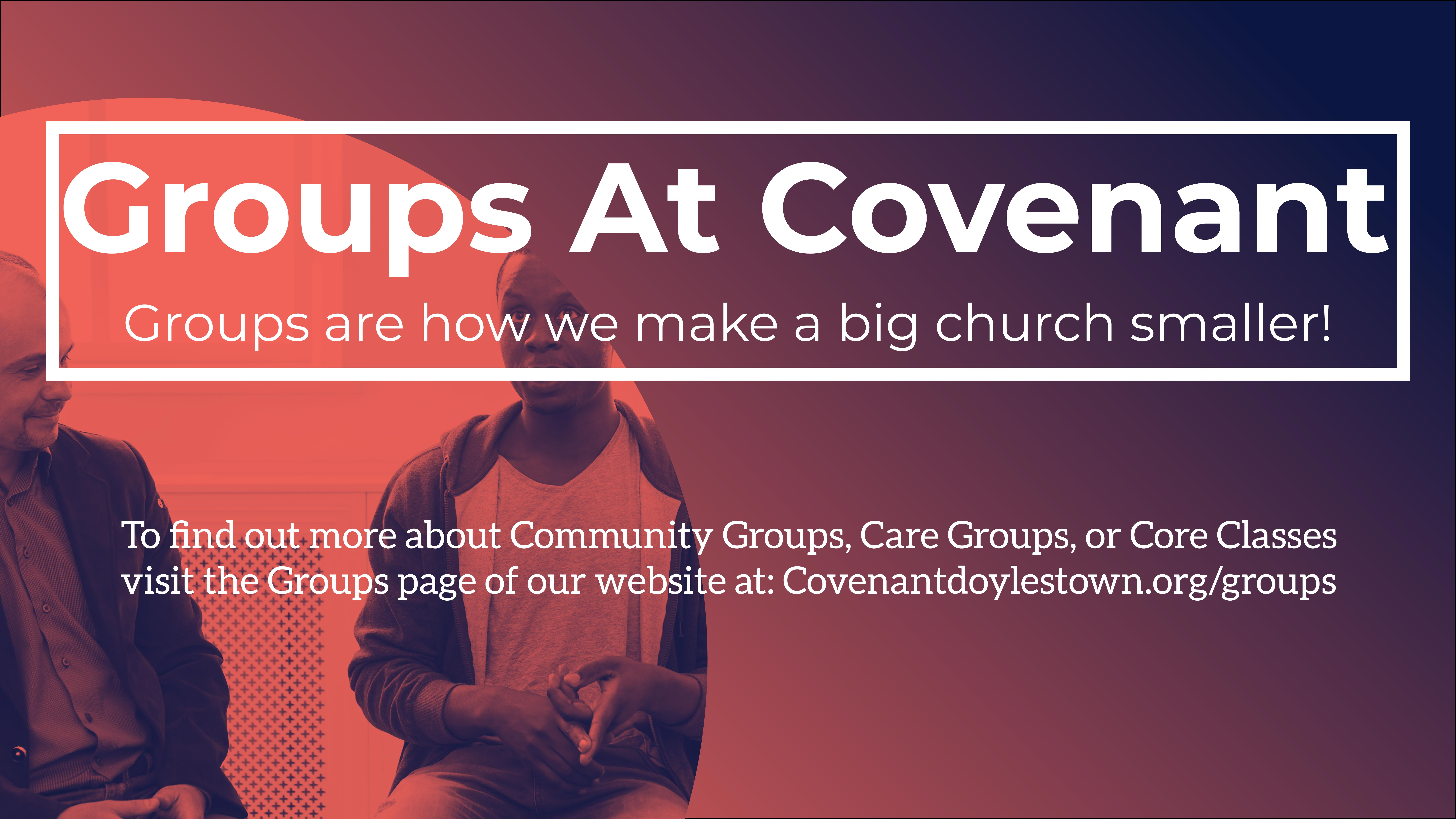 Groups At Covenant
